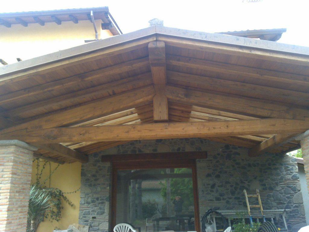 tetti in legno di castagno