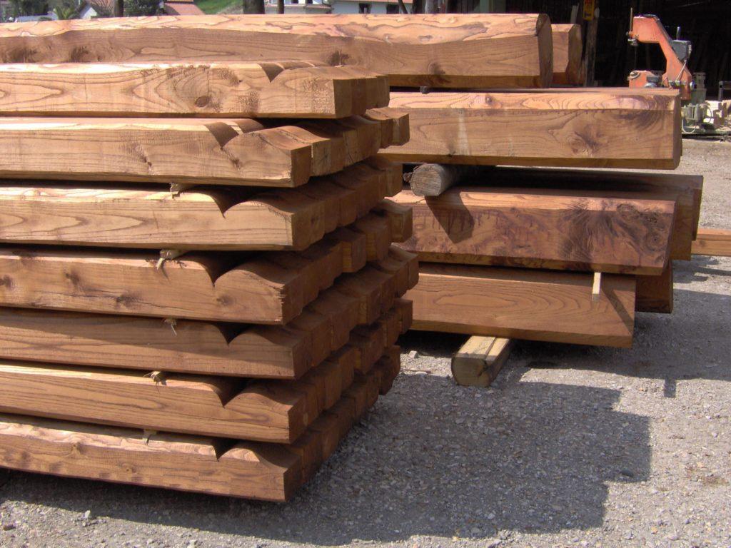 travi in legno di castagno
